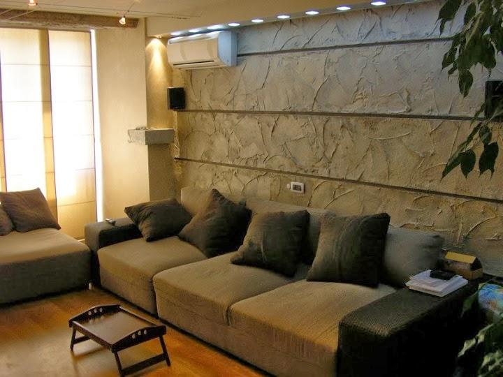 Всекидневна с 4  различни декоративни стени 2