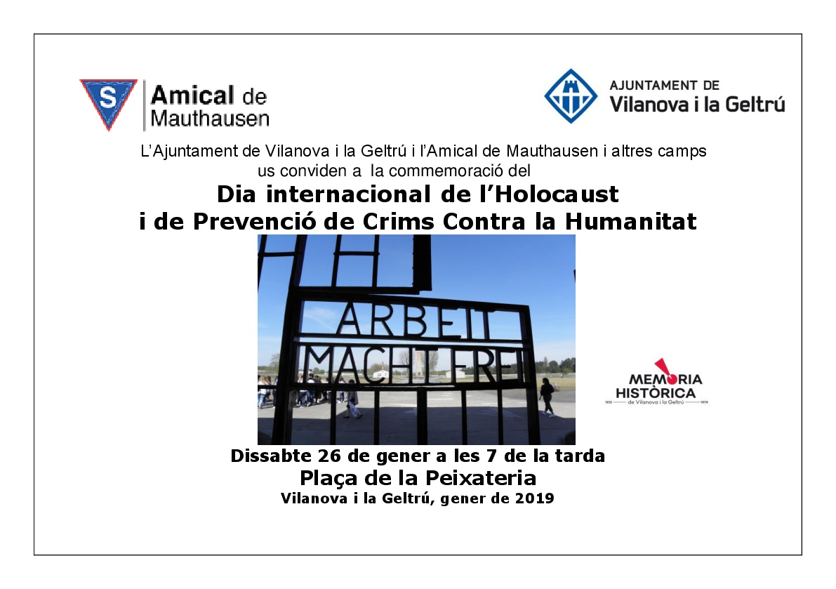Dia Internacional de l'Holocaust 2019