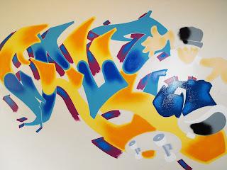 graffitti wall mural childs bedroom australia canada indoor art spray painted wall
