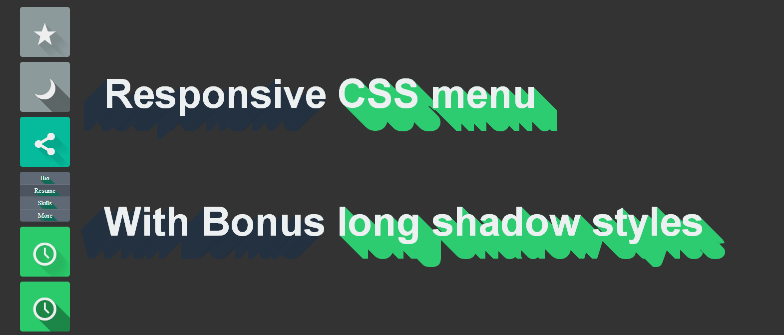 Long Shadow Menu