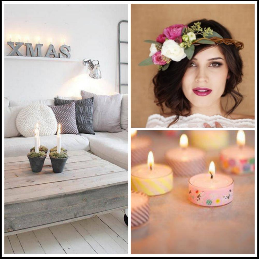 pallet, corona de flores, washi tape moda