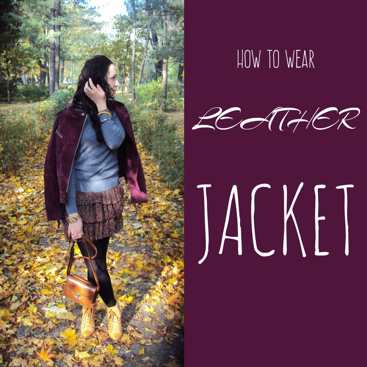 How to wear leather jackets