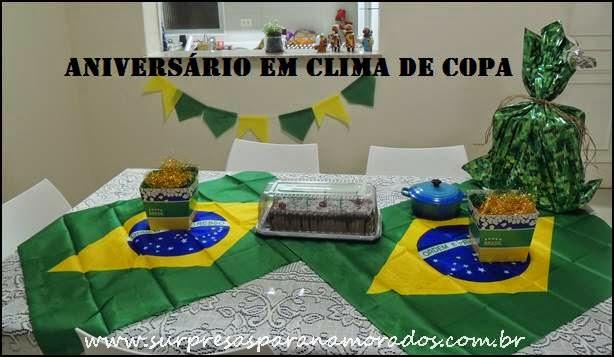aniversário tema Brasil