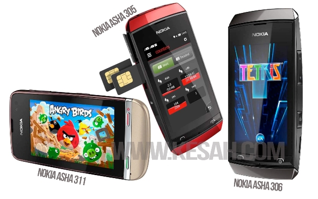 Perbedaan Nokia Asha 311, Asha 305, dan Asha 306
