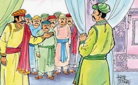 Akbar and Birbal at Palace