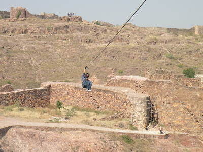 Ziplining at Mehrangarh fort, Rajasthan