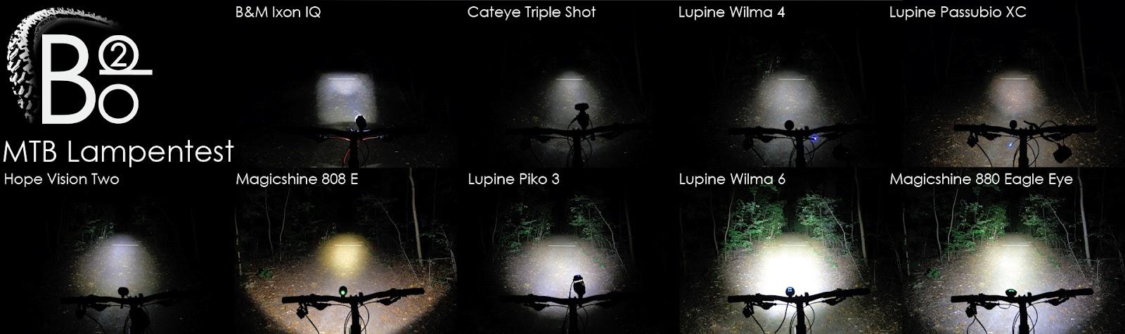 lampenvergleich bike2do lupine magicshine hope b m cateye mtb. Black Bedroom Furniture Sets. Home Design Ideas