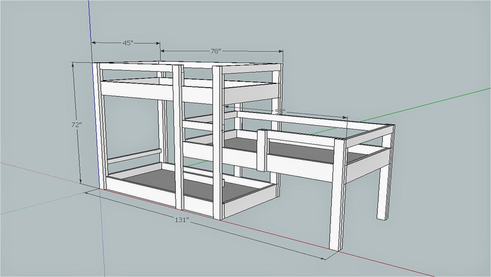 Somehow it all came together the great triple bunk bed build for Plan bed