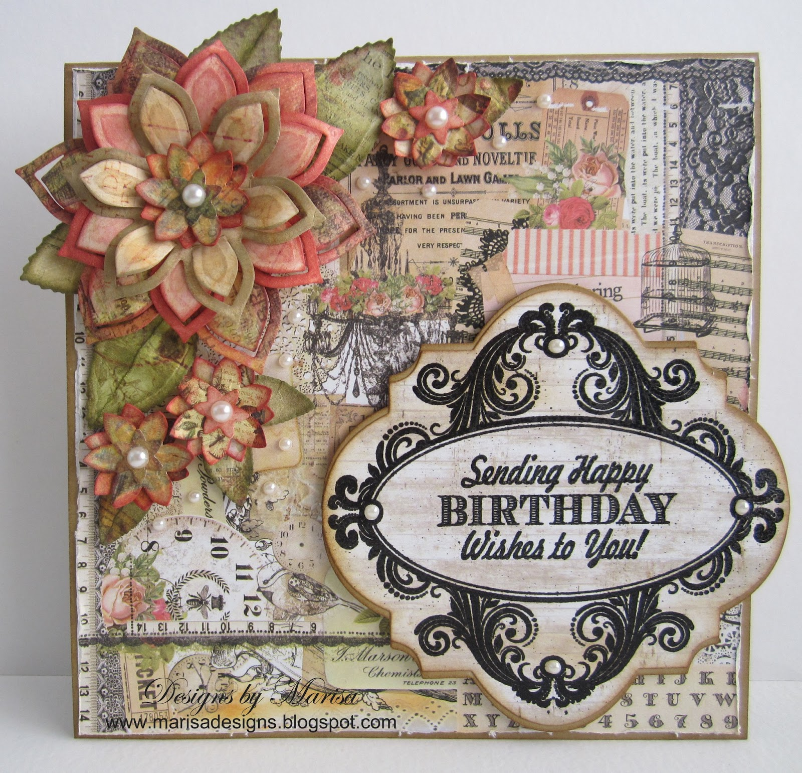 Designs by Marisa JustRite Papercraft May Release Day Two – Papercraft Birthday Card