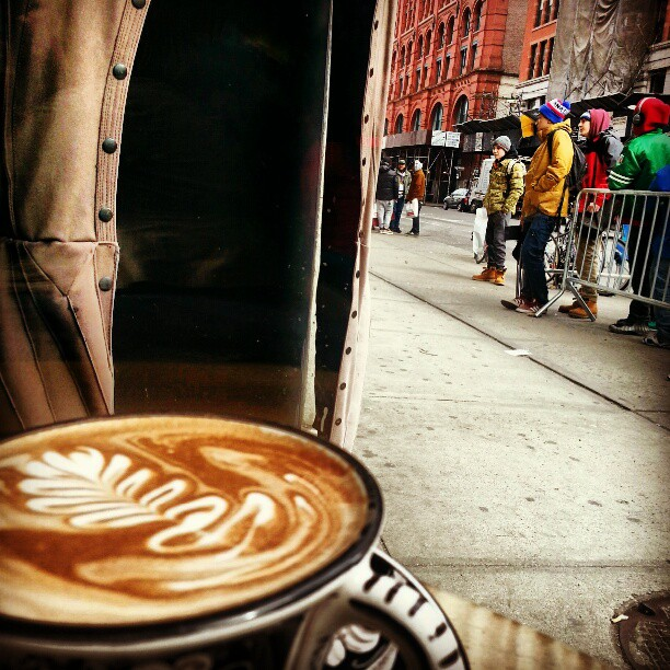 La Colombe Coffee on Lafayette Street in Nolita, New York on *sparklingly [http://sparklingly.blogspot.com]