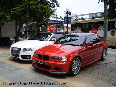 audi s5 convertible and BMW e46 coupe