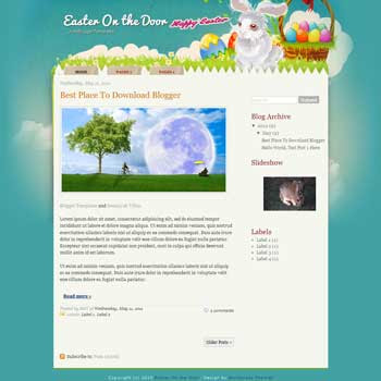 Easter On The Door Blogger Template. blogger template from wordpress theme