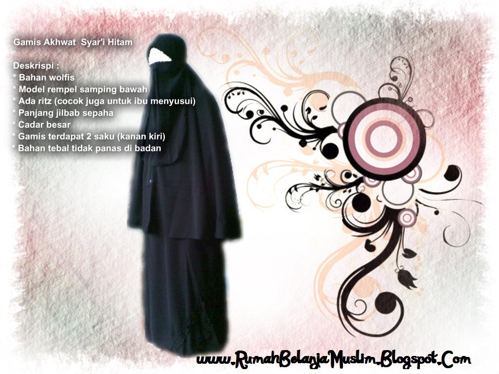Jilbab Syar'i Hitam
