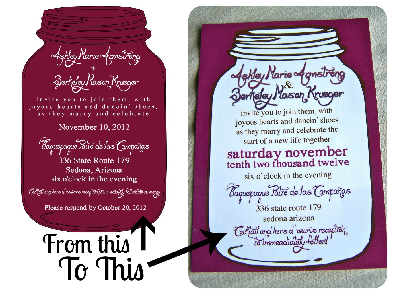 Your Girl for all Seasonings: Wedding Wedneday//DIY Invitation Suite