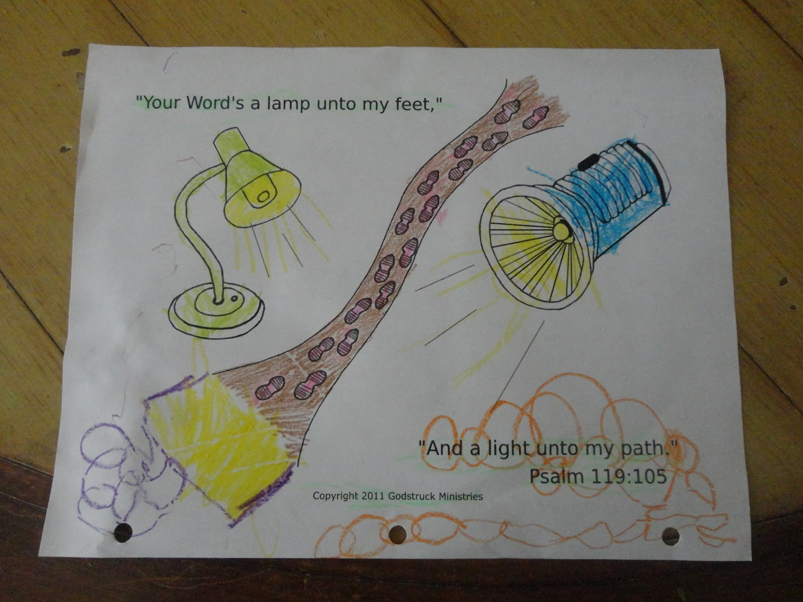 Lamp Unto My Feet Coloring Page