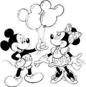 Desenhos Para Colorir mickey mouse e minnie