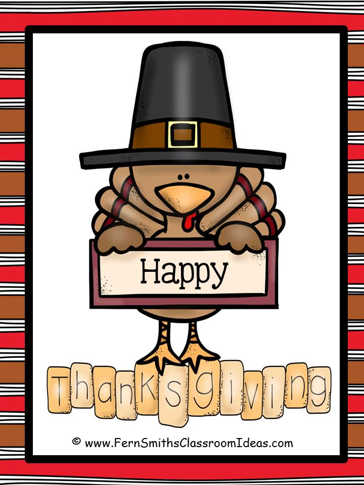 Fern Smith's Classroom Ideas Tuesday Teacher Tips: Thanksgiving Tips and Freebies