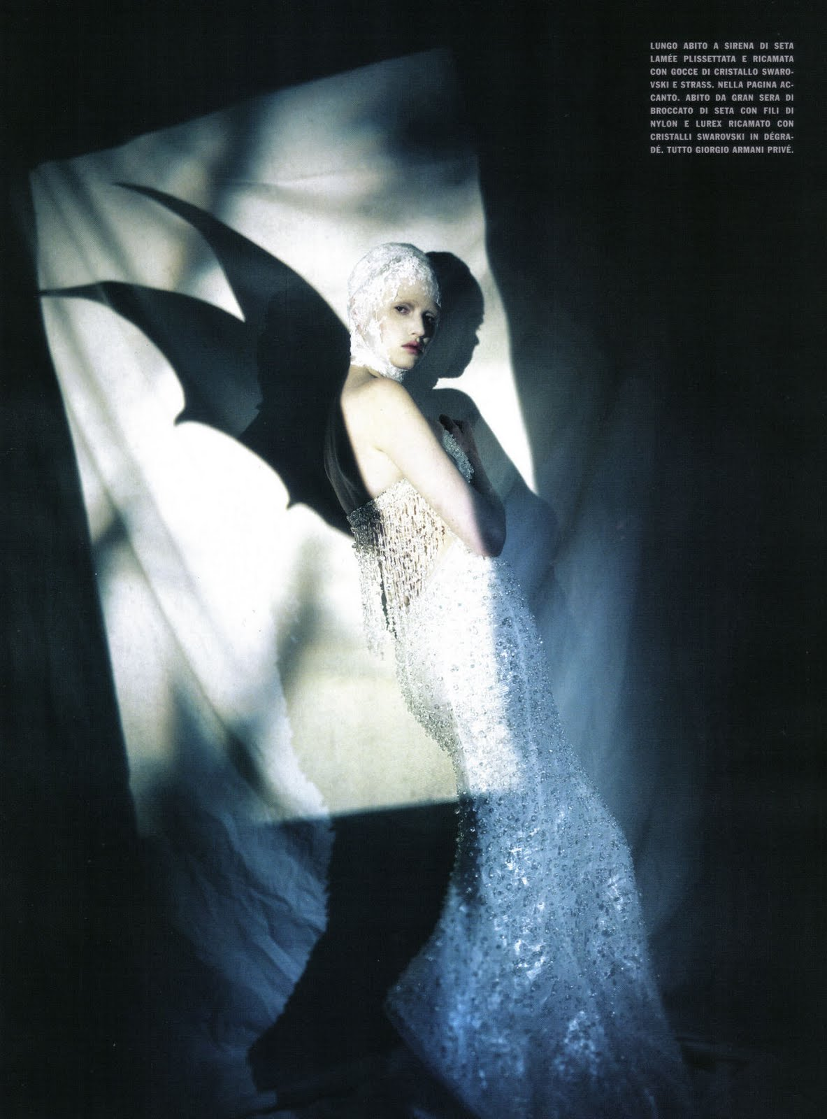 Lara Stone in The great illusion | Vogue Italia March 2010 (photography: Paolo Roversi, styling: Olivier Rizzo)
