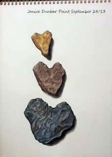 Heart shaped rocks artwork