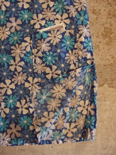 fwk by engineered garments tunic in lt.blue big floral print spring/summer  sunrise market