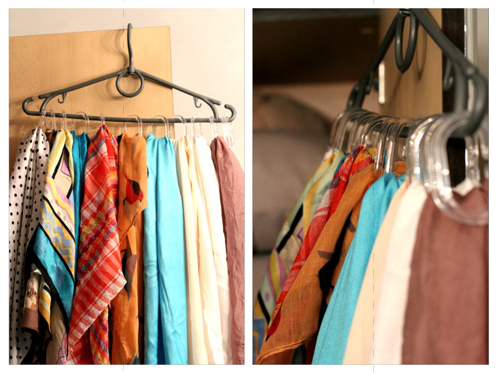 Как сделать вешалку для платков и шарфов - Mi-k.ru