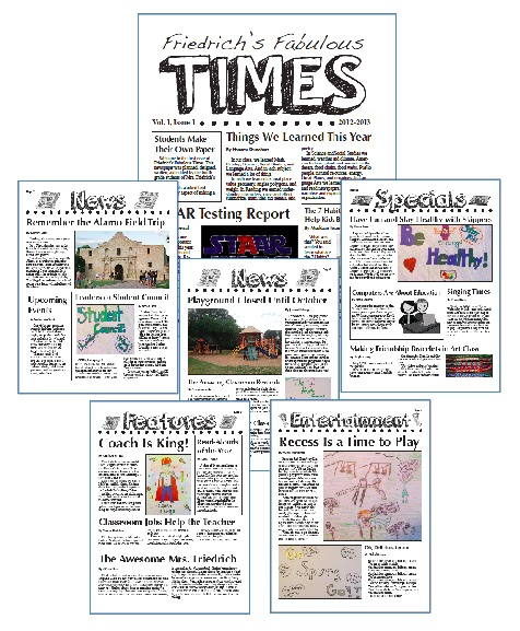 Learning To Teach In The Rain Creating A Classroom Newspaper Part - Creating a newsletter template