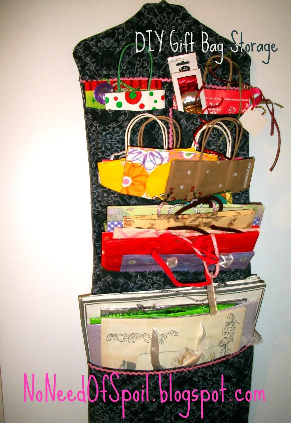 DIY Gift Bag Storage Tutorial & No Need Of Spoil: DIY Gift Bag Storage Tutorial