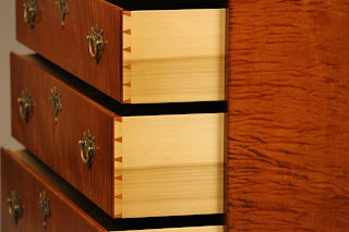 tiger maple chest drawers