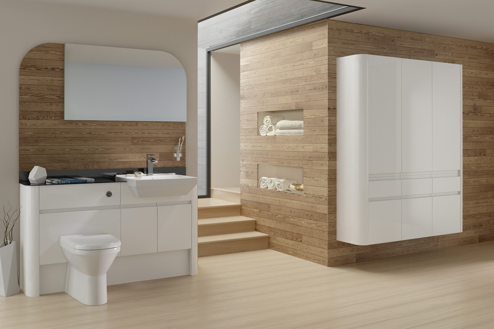 Model Handleless Bathroom Furniture  Puntotre Arredobagno