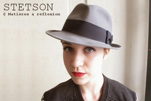Chapeau femme gris Stetson en poil de lapin