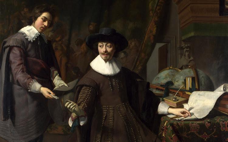 Thomas de Keyse - Portrait of Constantijn Huygens and his Clerk