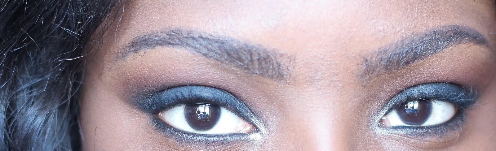 Black Smokey eye- Makeup Geek Corrupt, Morocco, Cocoa Bear. Mac Swiss Chocolate