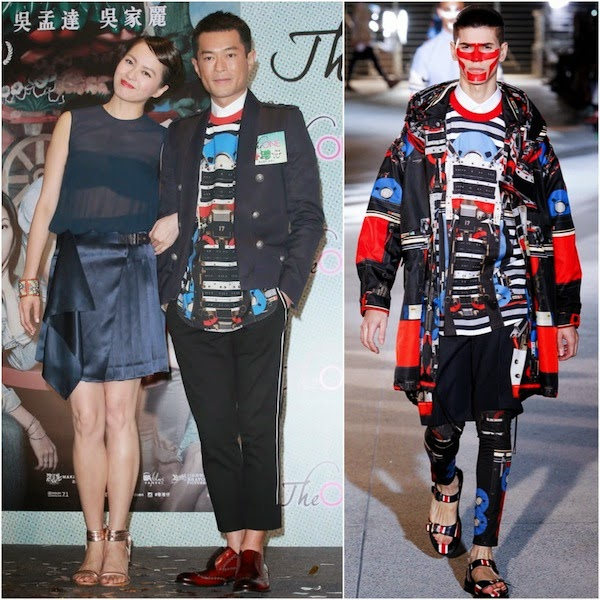 Louis Koo Tin-lok [古天樂] in Givenchy and Balmain -  Premiere of 'The One x Aberdeen'《香港仔》首映礼