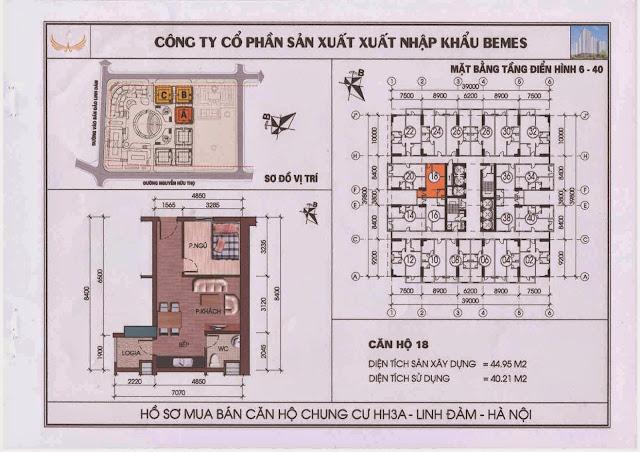 Căn hộ 18 - Chung Cư HH3A Linh Đàm