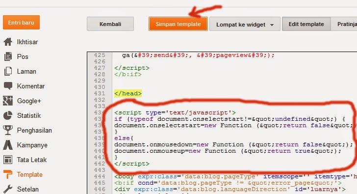 antisipasi agar blog tidak di copy paste