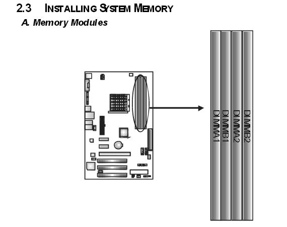 Установка ОЗУ DDR2 на материнскую плату Biostar NF520-A2