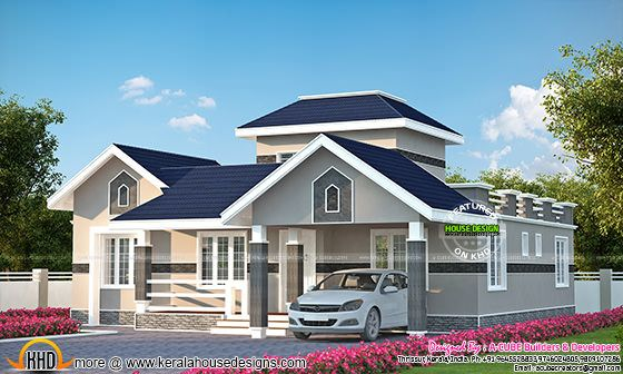 1687 sq-ft Kerala home design plan