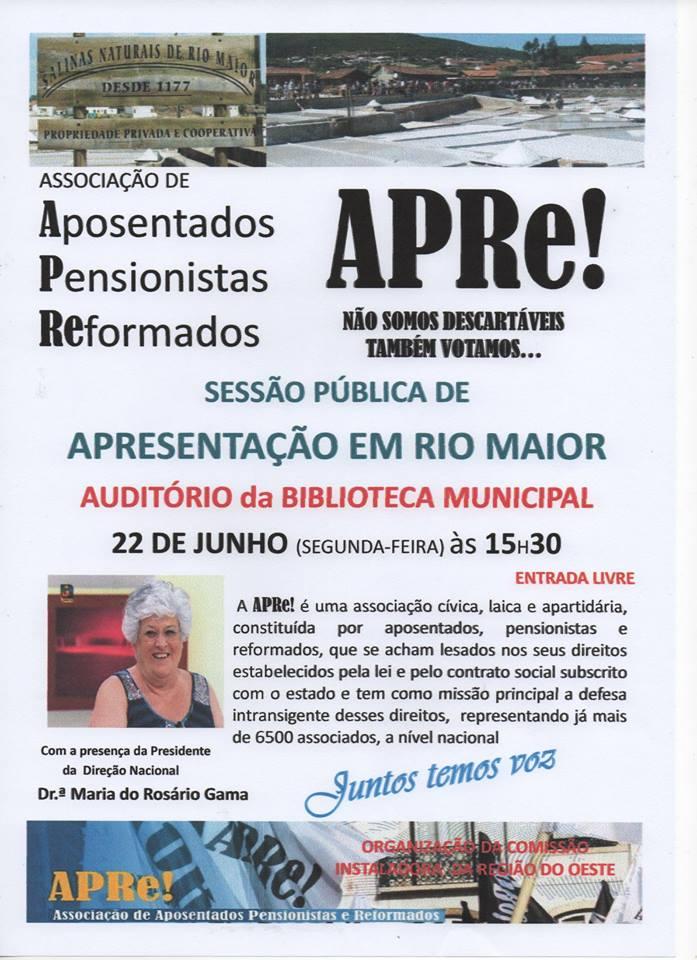 Rio Maior, sessão pública de apresentação da APRe!