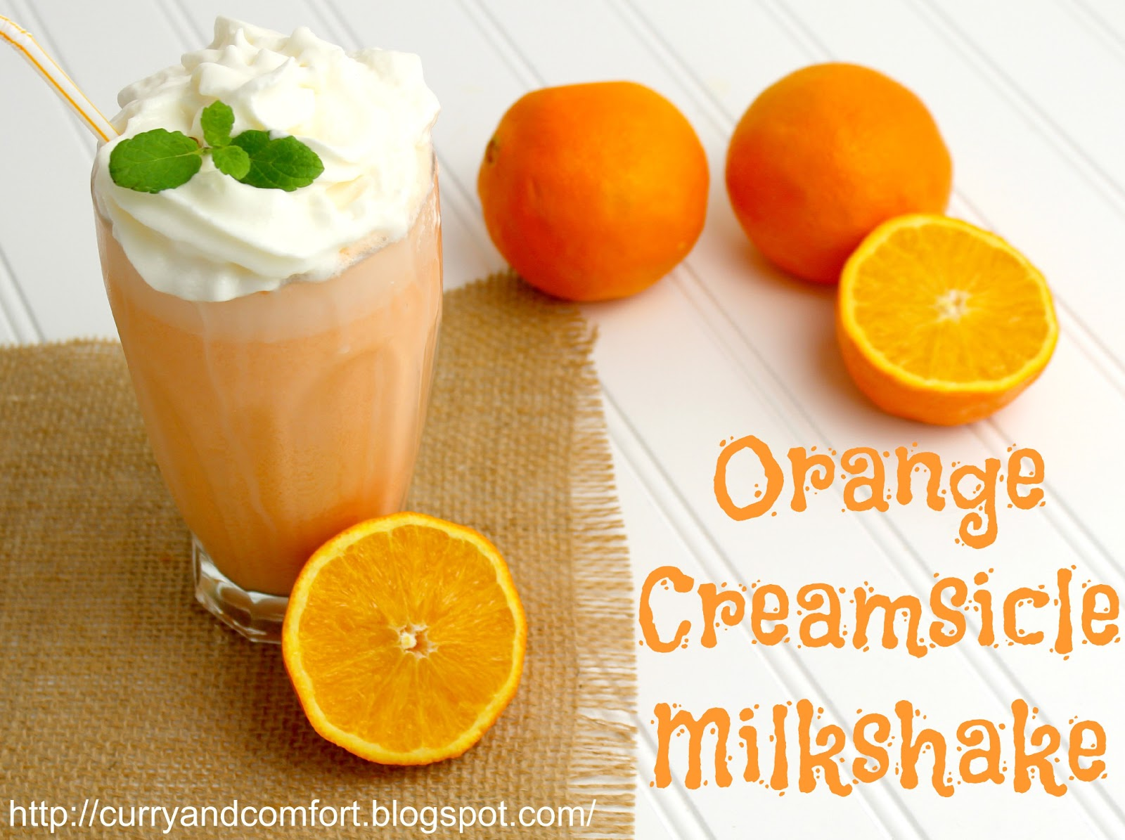 kitchen simmer orange creamsicle milkshake