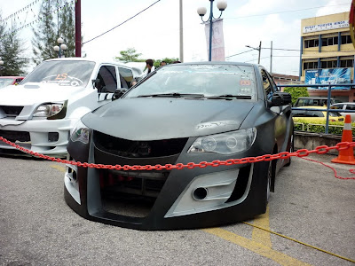 matte black wide body Vios Civic R8