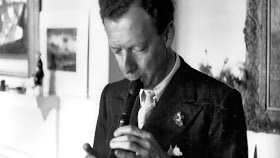 Britten playing the recorder