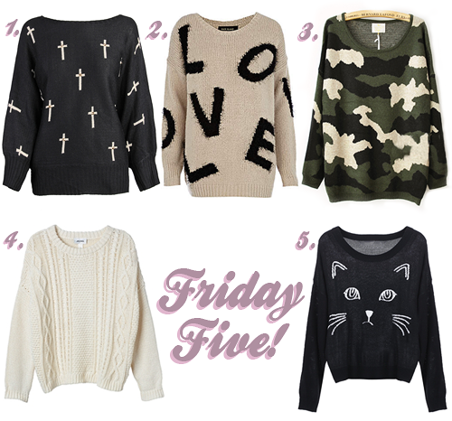 Friday Five: 5 Cute Oversized Jumpers