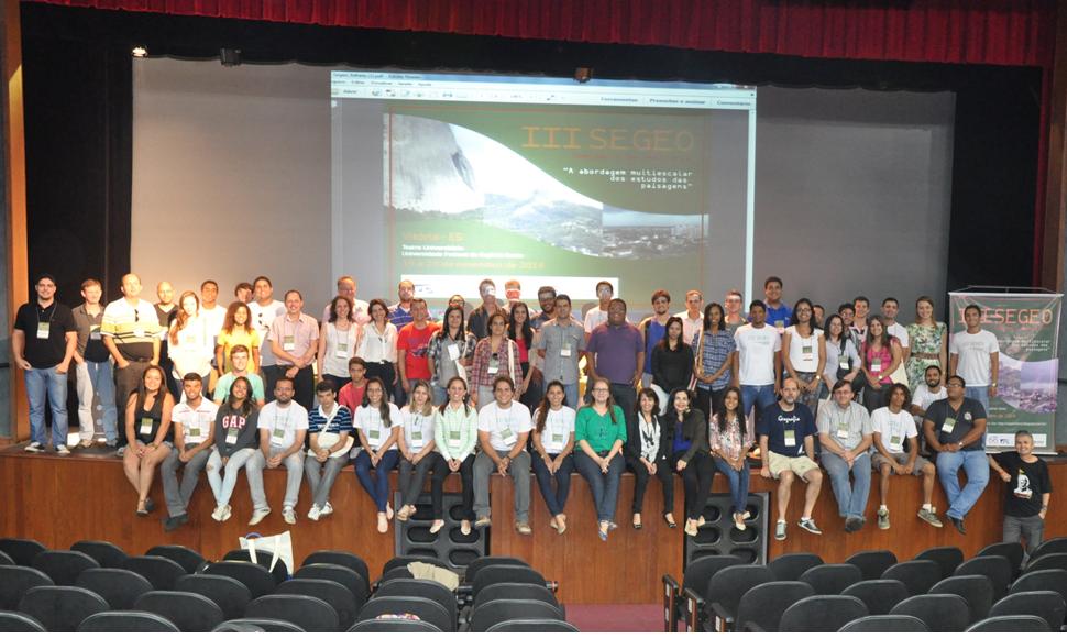 Participantes do III SEGEO-Vitória-2014