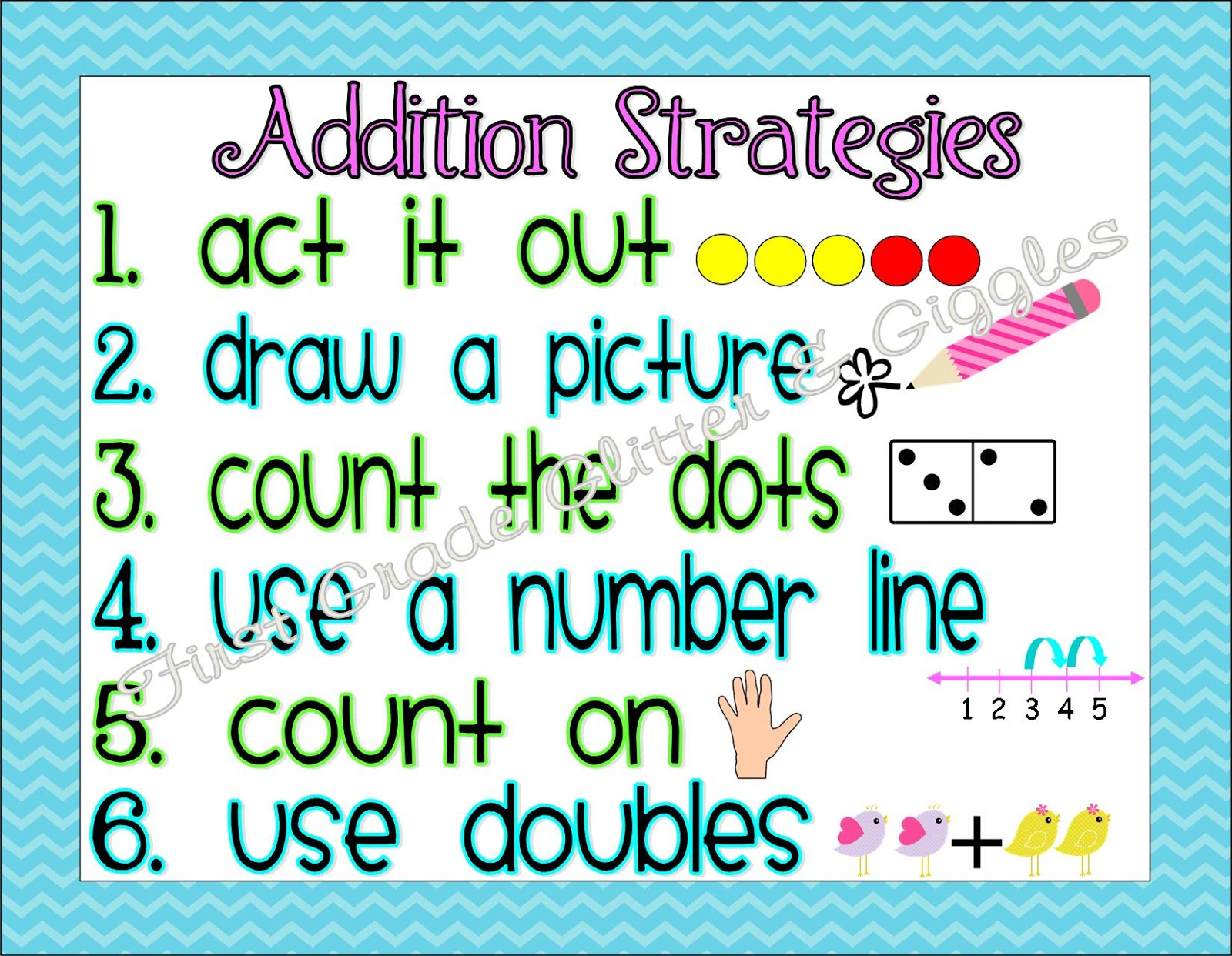 Math Strategy Posters...Plus My NEW Favorite Thing!! | First Grade ...