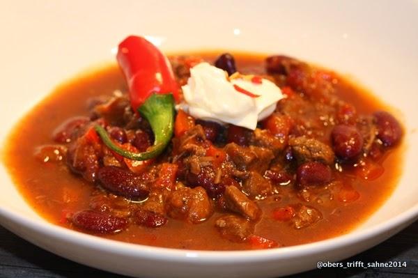 Chili con carne, ohne Mais