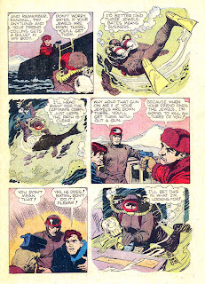 The Frogmen v1 #3 dell 1960s silver age comic book page art by Frank Frazetta
