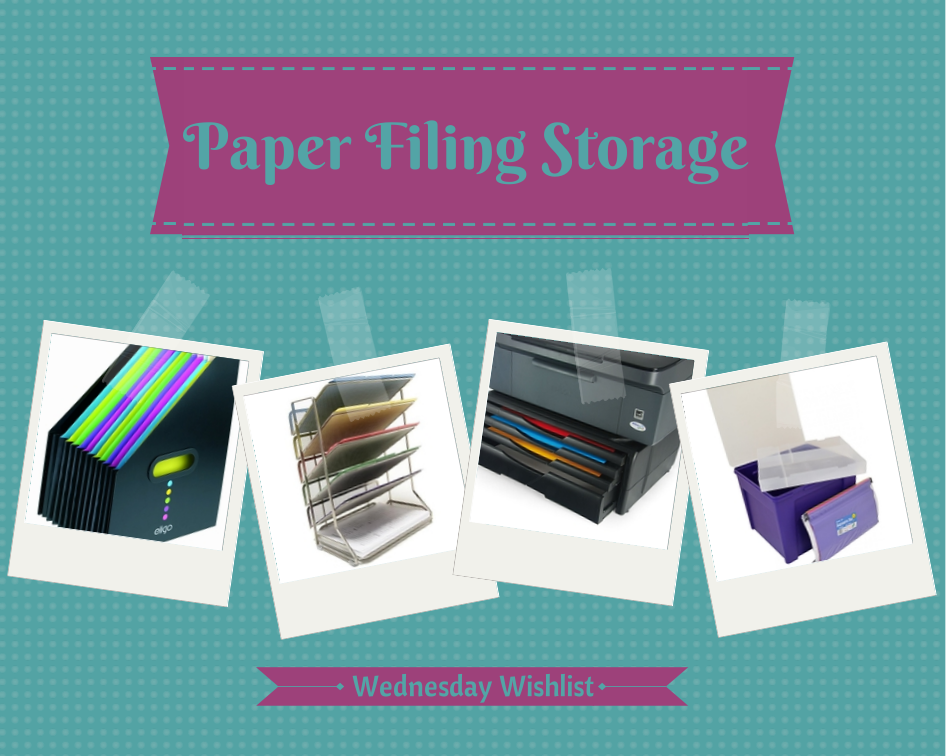 Paper Filing Storage {Wednesday Wishlist} | Boo Roo and Tigger Too
