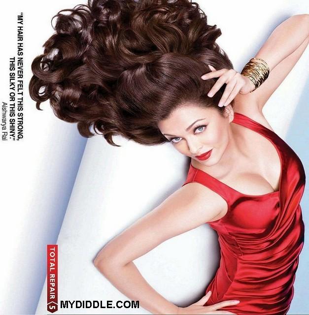 scandals aishwarya rai l oreal red dress ad pics