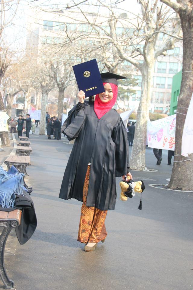 gambar farah lee comel konvo di inha university
