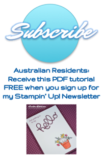 Receive my Stampin' Up! Newsletters